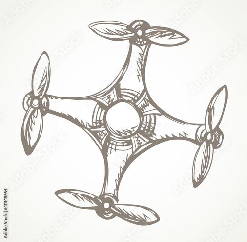 Fotografía Drone in flight. Vector drawing