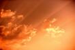 Leinwandbild Motiv Low Angle View Of Sunlight Streaming Through Clouds