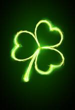 Shining Clover Leaf, Saint Patrick Day Symbol