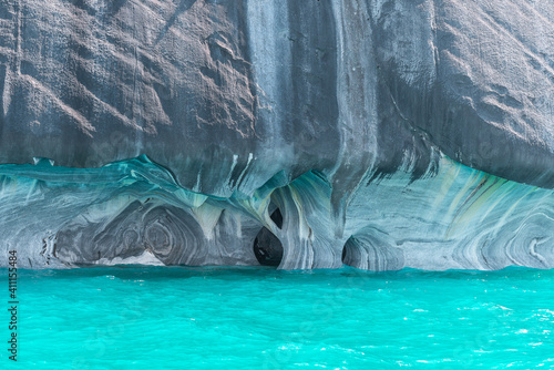 Marble Cathedral of lake General Carrera, Chilean Patagonia
