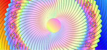 Black Rainbow Sunburst Background