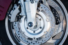 Front Wheel Of A Motorcycle With A Braking System