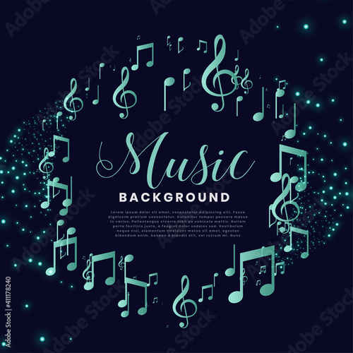 music notes frame nice background Poster Mural XXL