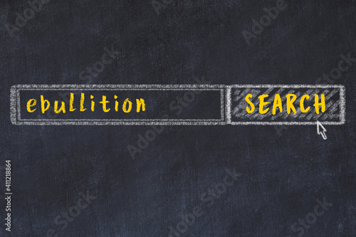 Fotografija Chalk sketch of browser window with search form and inscription ebullition
