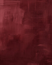 Maroon Or Rosewood With Burgundy Shades. Abstract Art Background. Acrylic Paint With Large Brush Strokes In Marsala, Dark Red Color. Textured Surface Template For Banner, Poster. Vertical Illustration