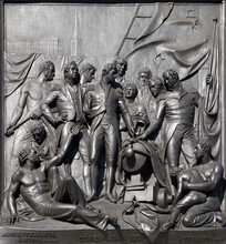 """London - The """"Copenhagen"""" Scene Relief From Nelson Memorial On The  By J. Ternouth (1801)."""