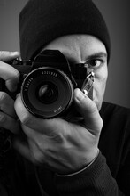 Fotógrafo Con Cámara