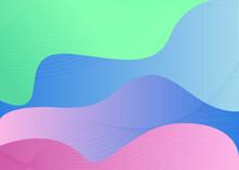 Fondo Abstracto Minimalista Con Degradado Colores Pastel Y Líneas