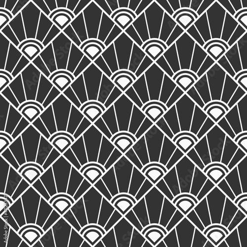Tapety Art Deco  abstrakcyjny-wzor-geometryczny-wzor-romby-w-paski-wzor-w-stylu-art-deco-sunburst-tlo-dla-tkanin-tkanin-tekstyliow-opakowan-tapet-rozerwane-linie-monochromatyczne-tlo-wektor