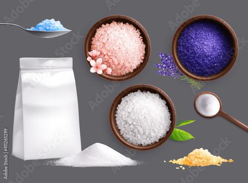 Fotografie, Obraz Spa Salt Realistic Collection