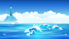 Sea Flat Background