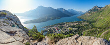 View Of Waterton Townsite From Bear's Hump