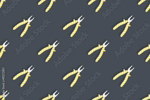 Obraz na plátně Pliers seamless pattern