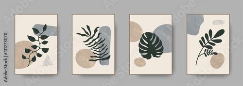 Canvas Print Abstract modern botanical boho poster collection