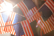 Close-up Of Flags