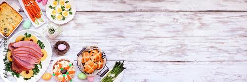 Fotografie, Obraz Traditional Easter ham dinner