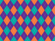 Argyle Pattern Seamless. Fabric Texture Background. Classic Argill Vector Ornament