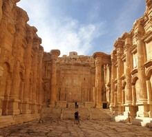 Baalbek, Lebanon - October 2020: Historic Temple And Monument In Baalback Bekaa Area. A Phoenician City Where A Triad Of Deities Was Worshipped, Was Known As Heliopolis During The Hellenistic Period.
