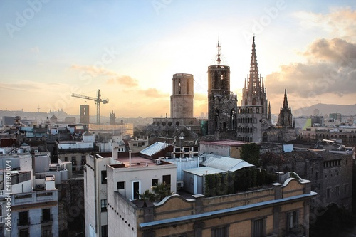 Foto Church Towers At Sunset