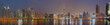 DUBAI, UAE - MARCH 23, 2017: The evening panorama over the new Canal with the Downtown and Burj Khalifa tower.
