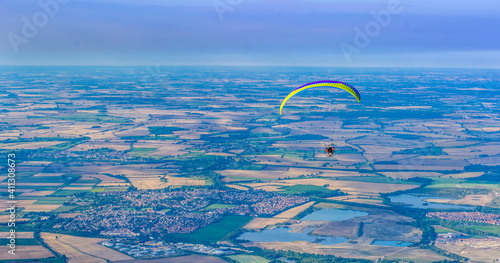 Fototapeta Scenic View Of Hang Glider Sky