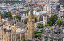 Big Ben In London From Above