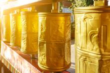 Chinese Tibetan Buddhist Prayer Wheels