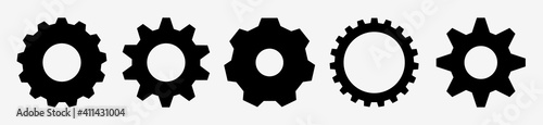 Fotografie, Obraz Gear setting vector icon set