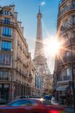 Fototapeta Paryż - beautiful view of the Eiffel tower in Paris, France