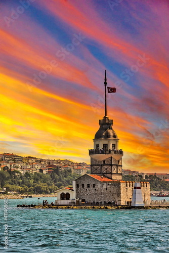 Fotografie, Obraz Galata Tower and Maiden's Tower view with Bosphorus tour in Istanbul