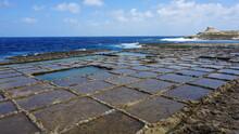 Salt Pans, Ix-Xwejni Bay, Gozo Island, Malta, March