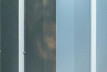 Corner Of Shiny Metal Building Wall Paneling