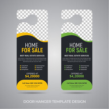 Real Estate Door Hanger Template Design