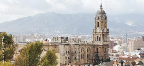 Catedral de Malaga desde calle mundo