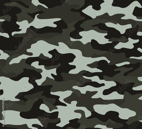 Obraz Full seamless camouflage texture skin pattern vector for military textile. Usable for Jacket Pants Shirt and Shorts. Dirty army camo masking design for hunting fabric print and wallpaper. - fototapety do salonu