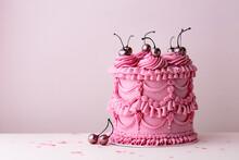 Vintage Style Buttercream Celebration Cake