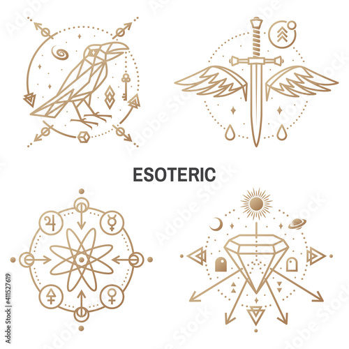 Esoteric symbols Fototapete