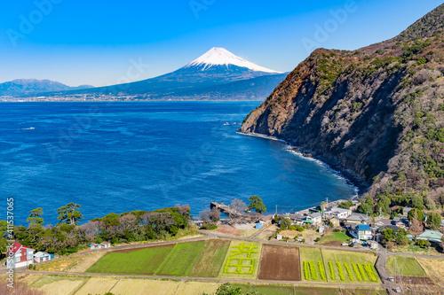 Fotografering 静岡県沼津市井田 煌めきの丘から見た富士山