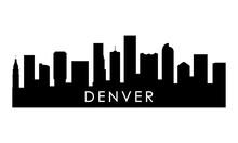 Denver Skyline Silhouette. Black Denver City Design Isolated On White Background.