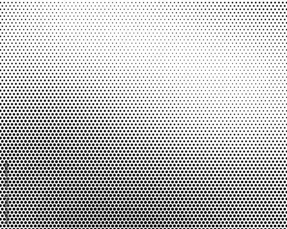 Fototapeta Abstract halftone dotted black and white background - vector illustration. Template for business, design, texture and postcards.