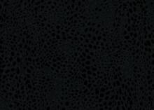 Dark Cheetah Spots Pattern Design. Vector Illustration Background. Wildlife Fur Skin Design Illustration.