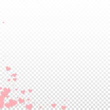 Pink Heart Love Confettis. Valentine's Day Corner