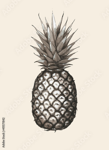 Beżowy ananas
