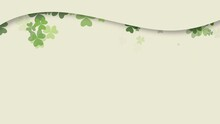 Green Shamrocks On Brown Background, Saint Patrick Day Holiday