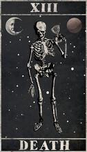 A Tarot Card Death Mayor Arcana With Vintage Look