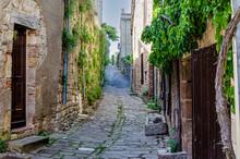 Cordes Sur Ciel And Its Medieval Cobbled Streets. France