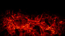 Embers In A Fireplace
