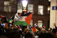 Pro-palestinian Activists Took To The Streets Of The Belgian Capital In Protest