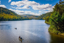 View On The Wapizagonke Lake In Mauricie National Park (Quebec, Canada), On A Beautiful Fall Day