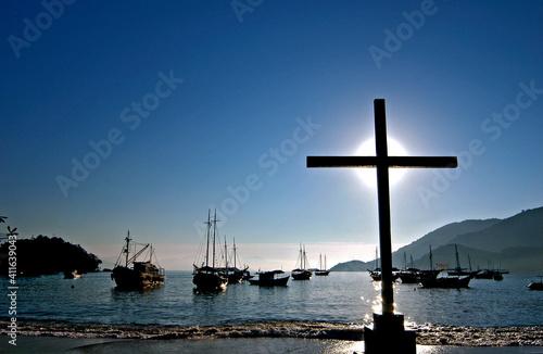 Fototapeta Barcos em Ilha Grande, Angra dos Reis. Rio de Janeiro